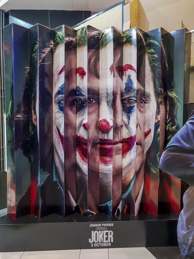 Il poster del film di Joker, è un film americano di thriller psicologico diretto da Todd Phillips che inizia a suonare in DC nel  immagine stock