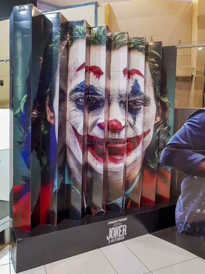 Il poster del film di Joker, è un film americano di thriller psicologico diretto da Todd Phillips che inizia a suonare in DC nel  fotografia stock
