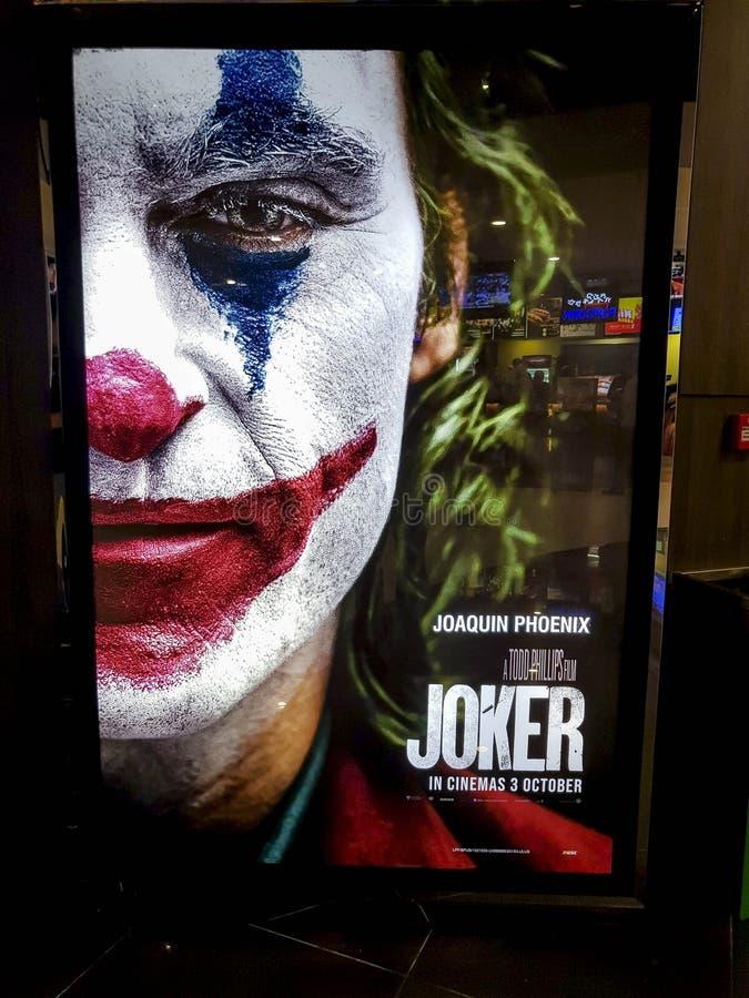 Il poster del film di Joker, è un film americano di thriller psicologico diretto da Todd Phillips che inizia a suonare in DC nel  fotografie stock