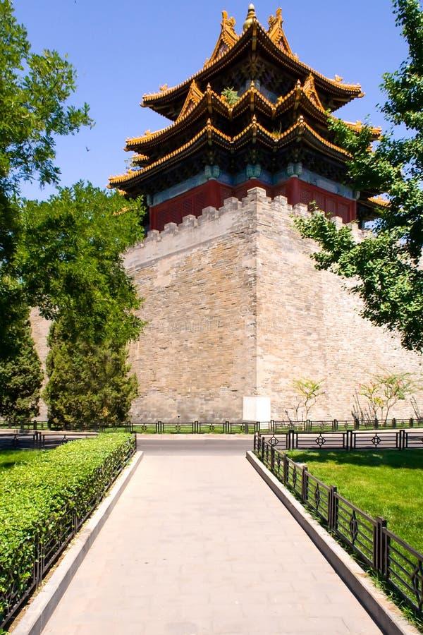 Il posto di guardia imperiale del palazzo situato nella Città proibita a Pechino, Cina immagini stock libere da diritti