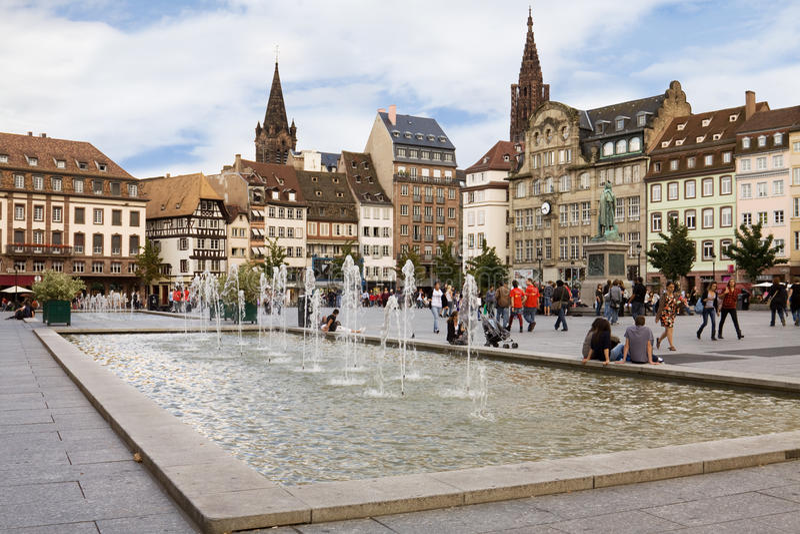 Il posto Kleber a Strasburgo. L'Alsazia, Francia fotografie stock libere da diritti