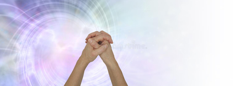 Il potere dell'insegna del fondo di preghiera immagine stock libera da diritti