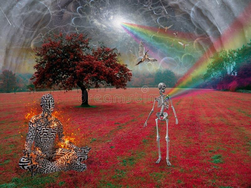Il potere della meditazione royalty illustrazione gratis