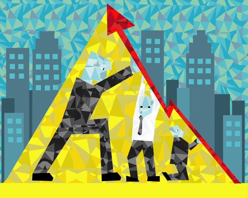 Il potere di lavoro di squadra nella società illustrazione vettoriale