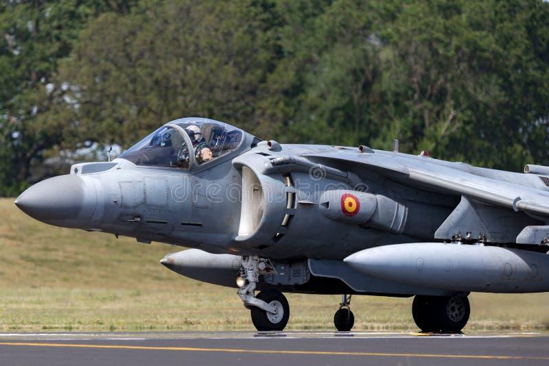 Il predatore spagnolo di Española McDonnell Douglas EAV-8B dell'armada della marina salta il jet immagini stock libere da diritti
