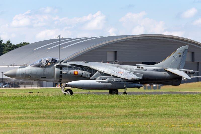 Il predatore spagnolo di Española McDonnell Douglas EAV-8B dell'armada della marina salta il jet fotografia stock