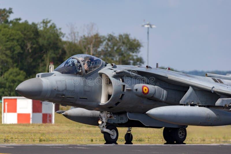 Il predatore spagnolo di Española McDonnell Douglas EAV-8B dell'armada della marina salta il jet fotografie stock