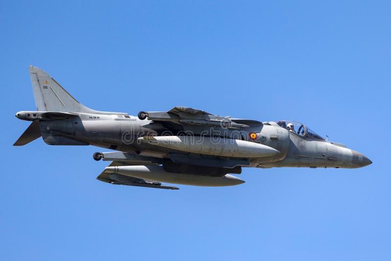 Il predatore spagnolo di Española McDonnell Douglas EAV-8B dell'armada della marina salta il jet immagine stock libera da diritti