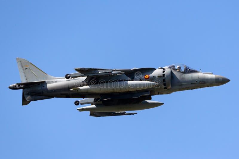 Il predatore spagnolo di Española McDonnell Douglas EAV-8B dell'armada della marina salta il jet fotografie stock libere da diritti