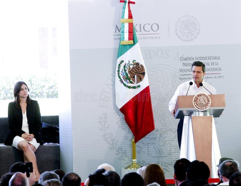 Il Presidente del Messico, Enrique Peña Nieto fotografia stock libera da diritti