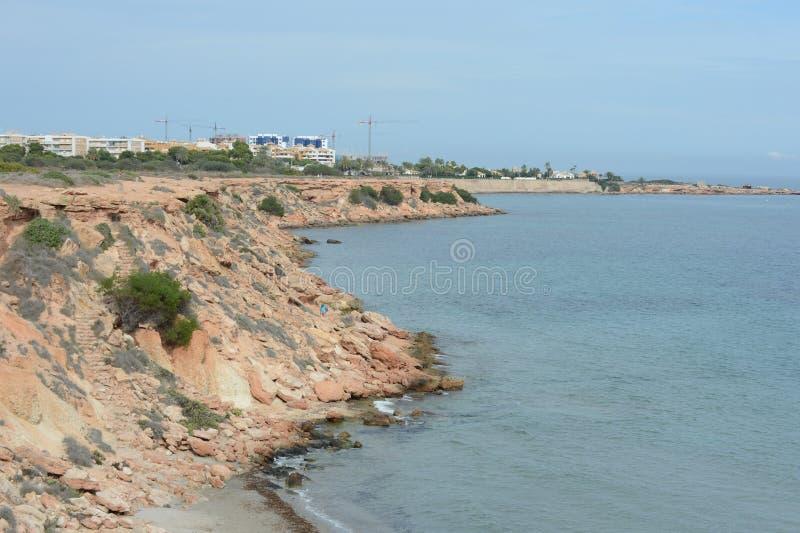 Il prima di Punta è la parte più del sud della località di soggiorno popolare di Torrevieja, è riconosciuto come la regione il pi immagini stock libere da diritti