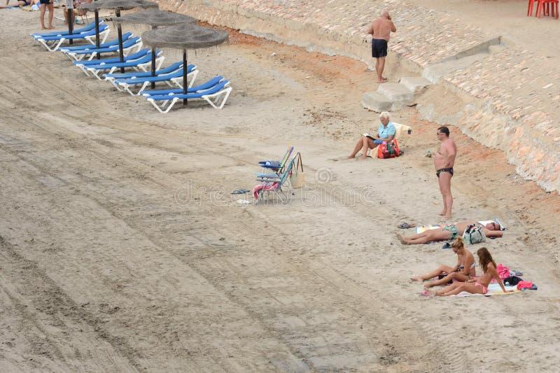 Il prima di Punta è la parte più del sud della località di soggiorno popolare di Torrevieja immagine stock libera da diritti