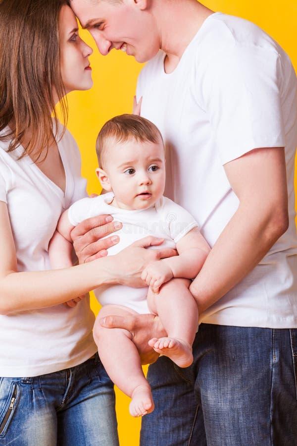 Il primo bambino nella famiglia fotografia stock