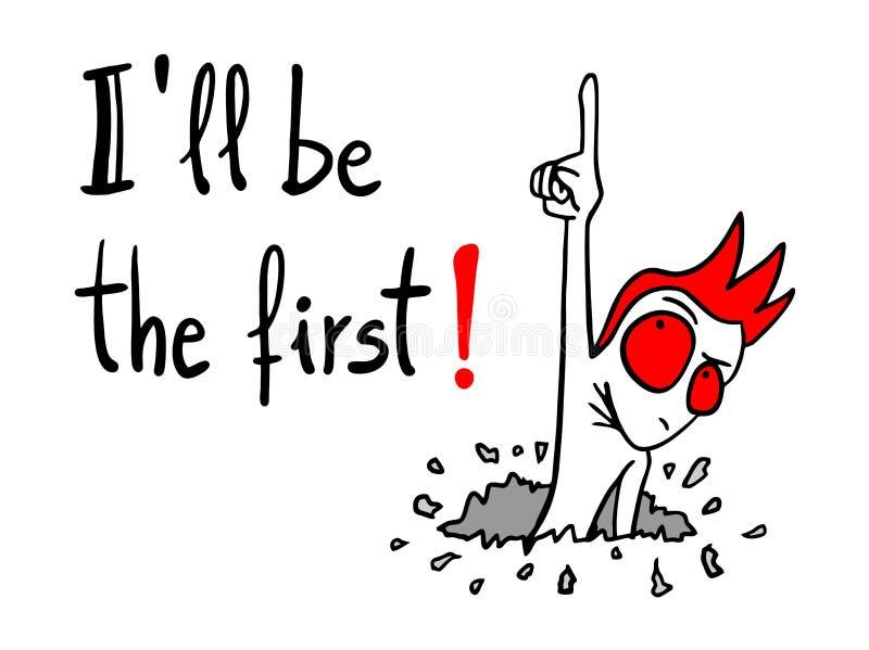 Download Il primo messaggio illustrazione vettoriale. Illustrazione di disegno - 55355451