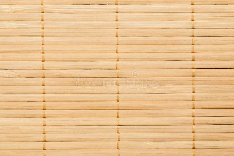 Il primo piano di bambù della stuoia ha sparato, struttura senza cuciture astratta immagini stock