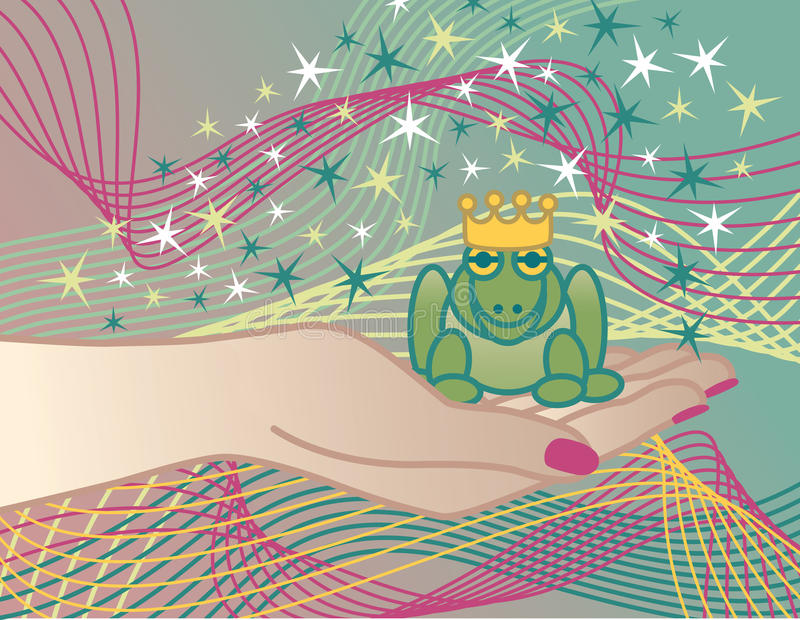 Il principe della rana royalty illustrazione gratis