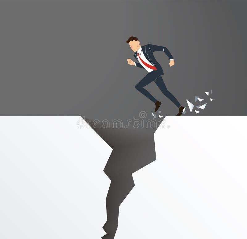 Il problema di business sormonta il concetto di rischio di crisi di ostacolo illustrazione di stock