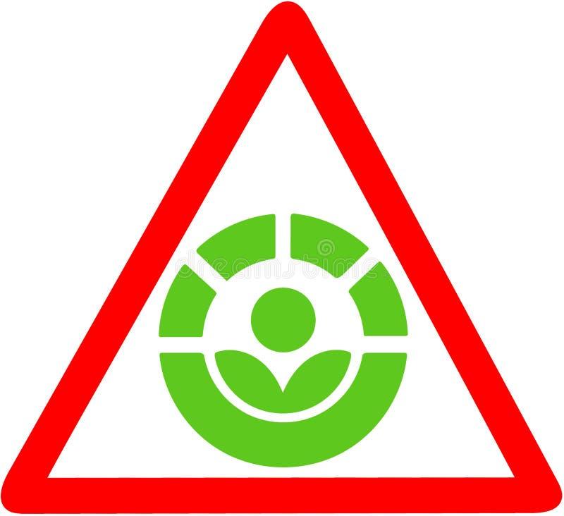Il processo di Radura che avverte per il segnale stradale circolare rosso di disenfection dell'alimento Simbolo o icona dell'alim illustrazione di stock