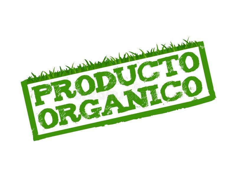 Il prodotto biologico firma dentro lo Spagnolo royalty illustrazione gratis