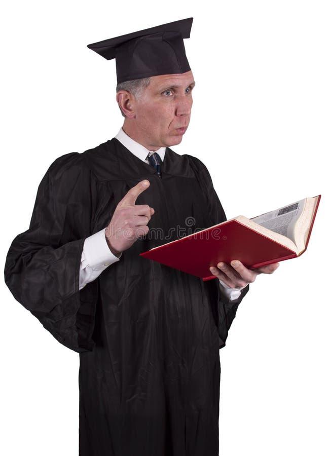 Il professor o insegnante che dà conferenza, d'istruzione immagini stock