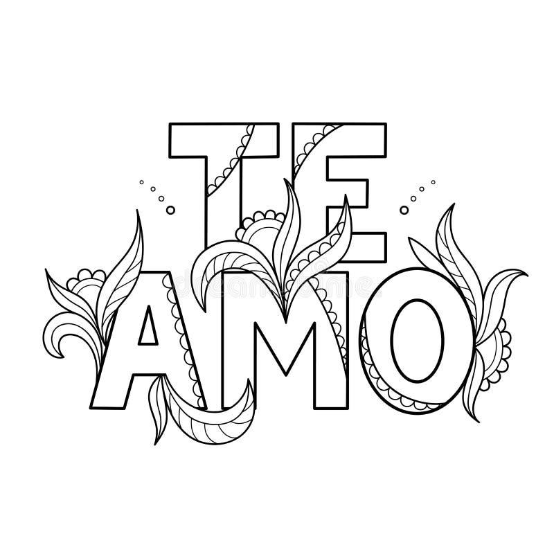 Il profilo nero ha isolato la citazione decorativa disegnata a mano nella lingua spagnola Allini la frase dell'iscrizione, manife royalty illustrazione gratis