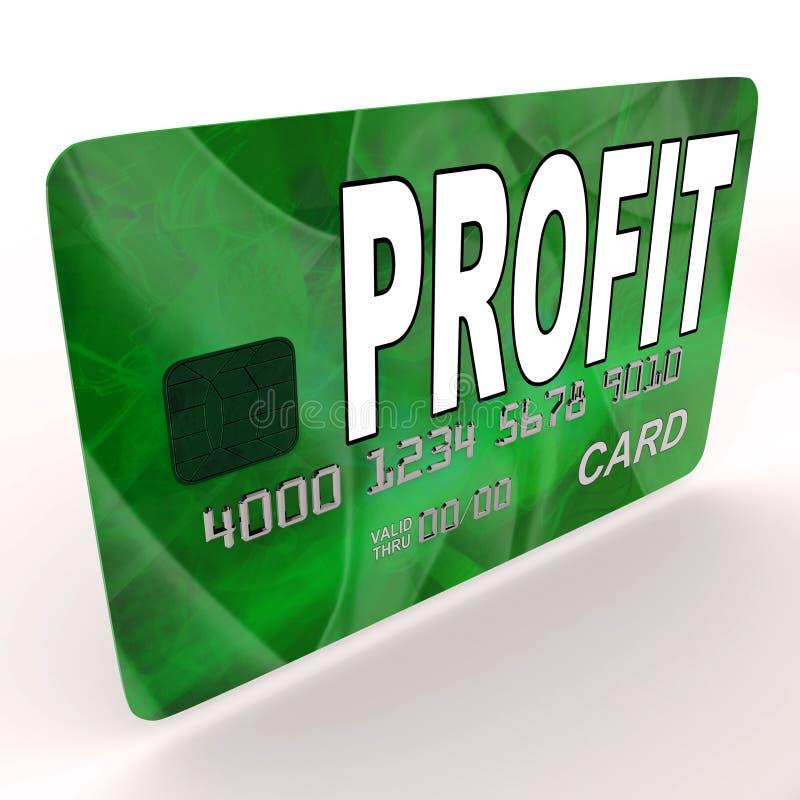 Il profitto sulle manifestazioni della carta di debito di credito guadagna i soldi illustrazione vettoriale