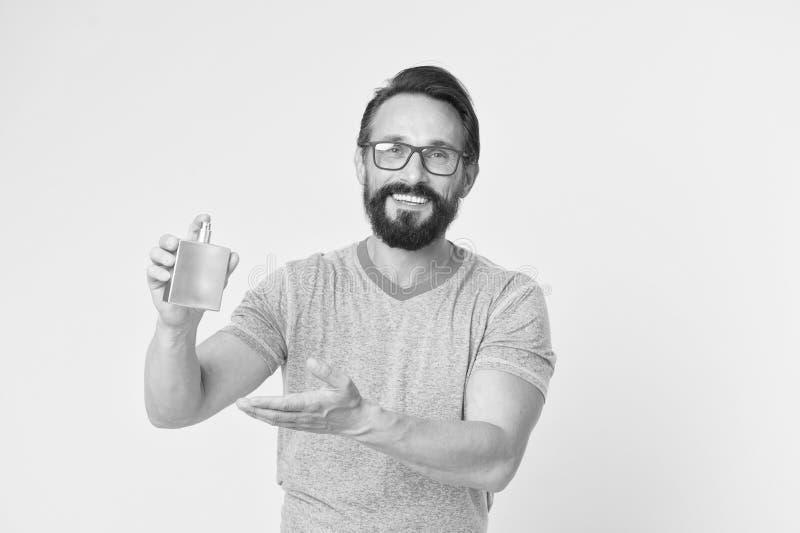 Il profumo d'uso sta migliorando l'umore Come scelga il profumo per gli uomini secondo l'occasione Assicuri l'odore fresco intera fotografie stock libere da diritti