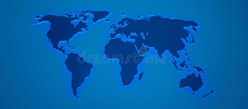 Il programma di mondo rende 3D in azzurro royalty illustrazione gratis