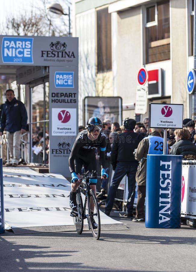 Il prologo 2013 di Ian Boswell- Parigi del ciclista Nizza in Houilles