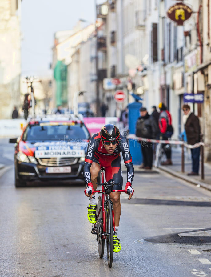 Il prologo 2013 di Moinard Amaël- Parigi del ciclista Nizza in Houilles