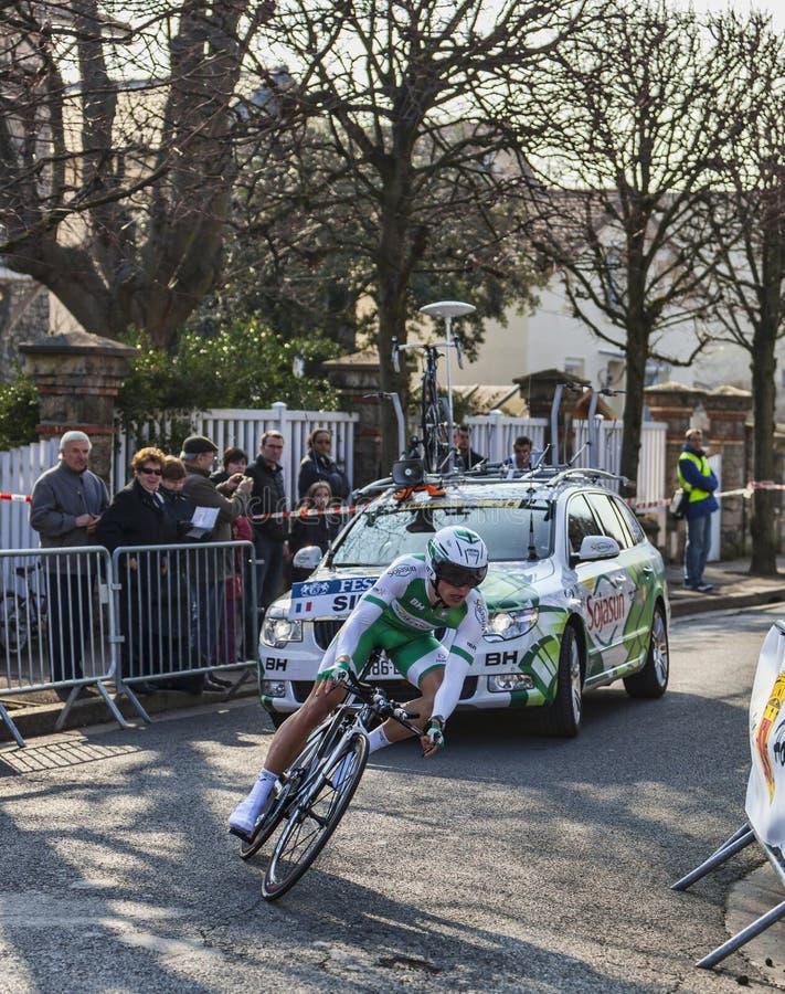 Il Prologo 2013 Di Simon Julien- Parigi Del Ciclista Nizza Immagine Editoriale