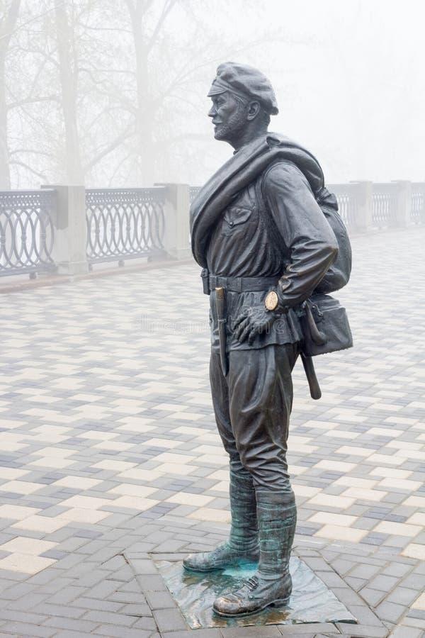 Il protagonista del film sovietico popolare il Sun bianco del deserto Il monumento istalled nel 2012 immagini stock libere da diritti
