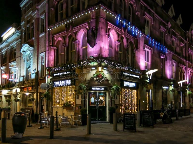 Il pub del mitra al quadrato del macello, Manchester fotografia stock libera da diritti