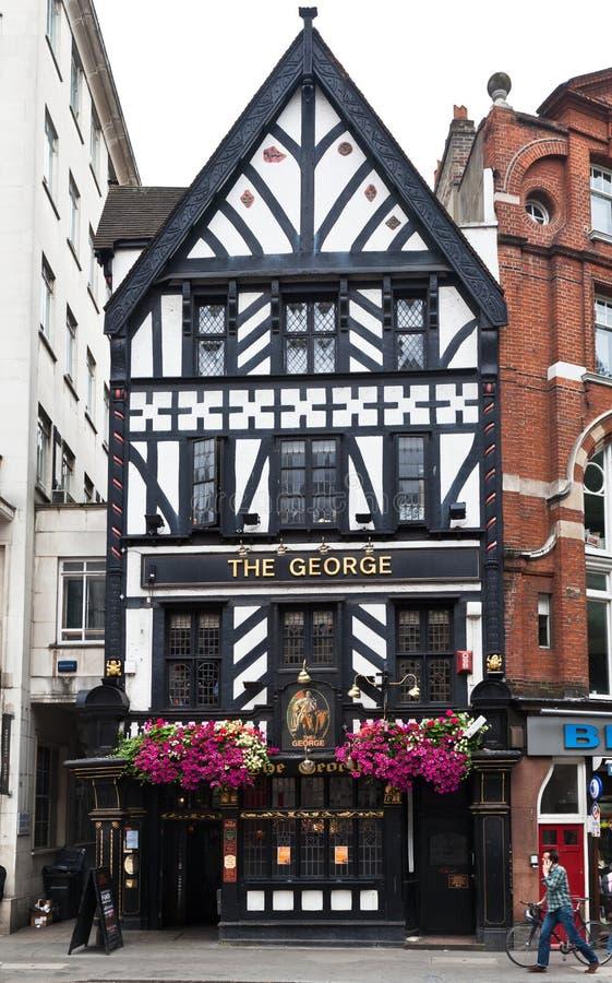 Il Pub Londra del George fotografia stock