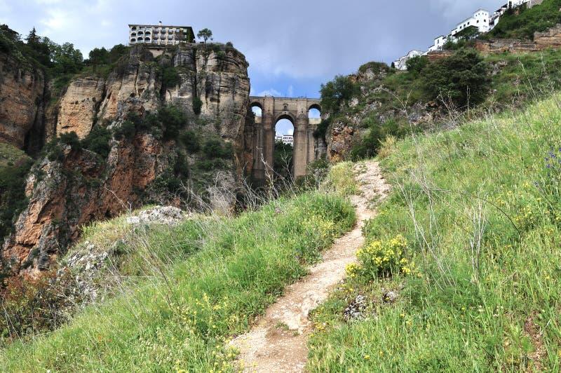Il Puente Nuevo a Ronda, Spagna fotografia stock