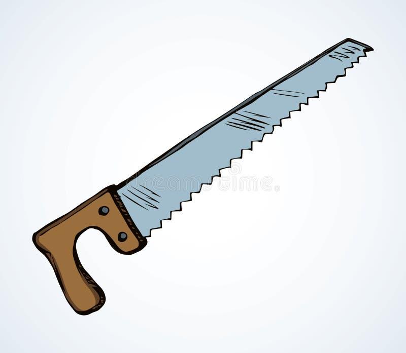 Il pugno di ferro ha visto Illustrazione di vettore illustrazione di stock