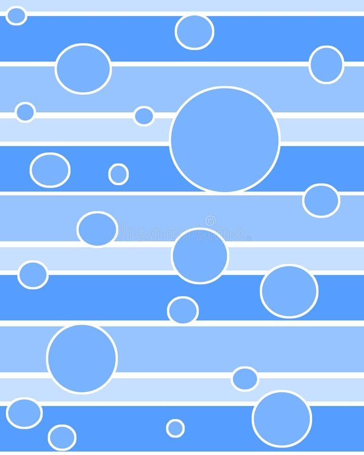 Il puntino circonda l'azzurro illustrazione di stock