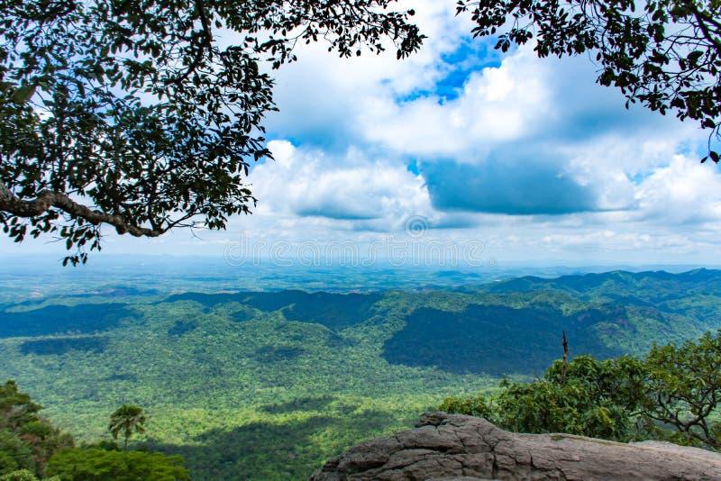 Il punto di vista delle montagne a Pha Sut Pen Din fotografie stock libere da diritti