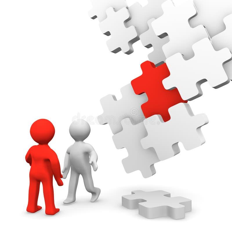 Il puzzle illustrazione di stock