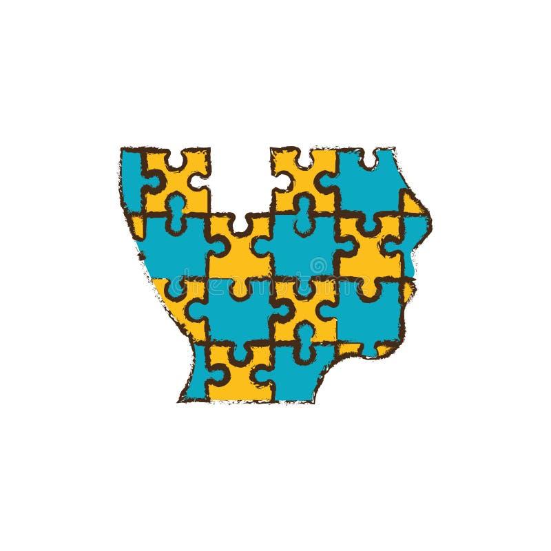 il puzzle capo collega l'immagine royalty illustrazione gratis
