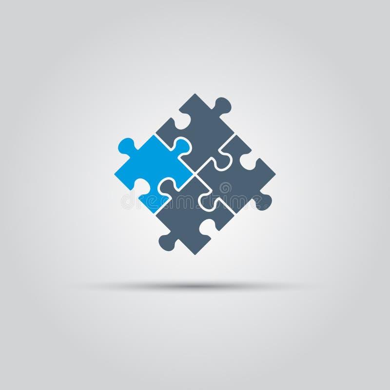 Il puzzle collega l'icona di vettore illustrazione di stock