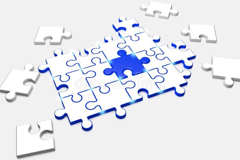 Il puzzle composito simbolizza Team Spirit royalty illustrazione gratis