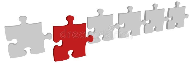 Il puzzle di vettore illustrazione di stock
