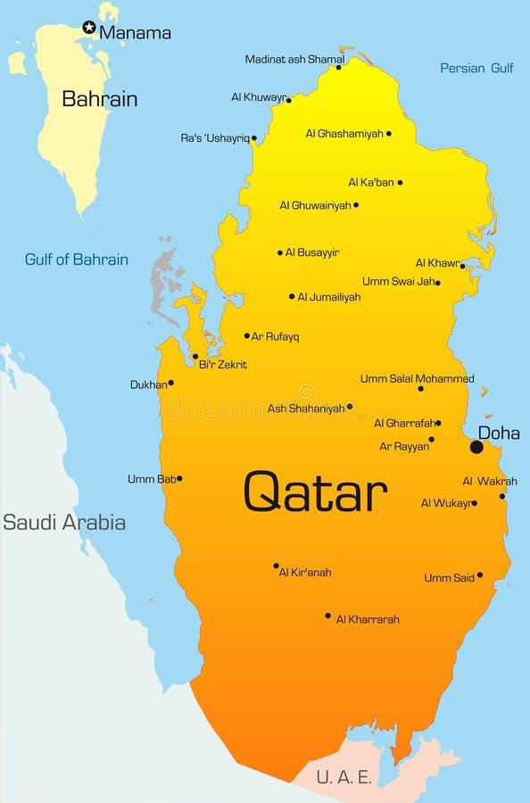 Il Qatar illustrazione vettoriale