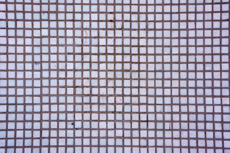 Il quadrato bianco senza giunte copre di tegoli la struttura Fondo astratto delle tessere bianche fotografie stock libere da diritti