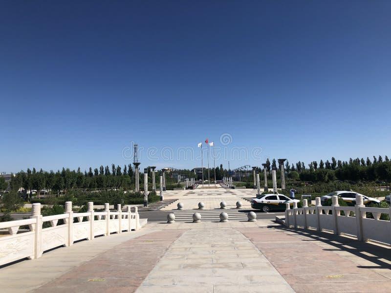 Il quadrato dell'aeroporto di Dunhuang, Cina fotografia stock
