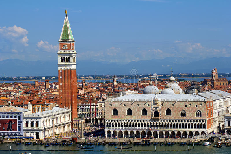 Il quadrato di St Mark a Venezia, Italia immagine stock libera da diritti