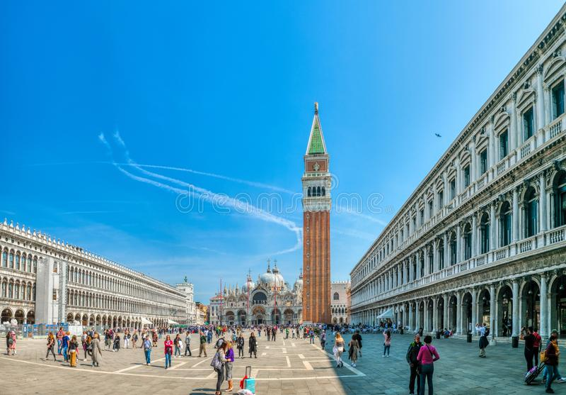 Il quadrato di St Mark a Venezia, Italia, piazza San Marco in Venezia fotografie stock
