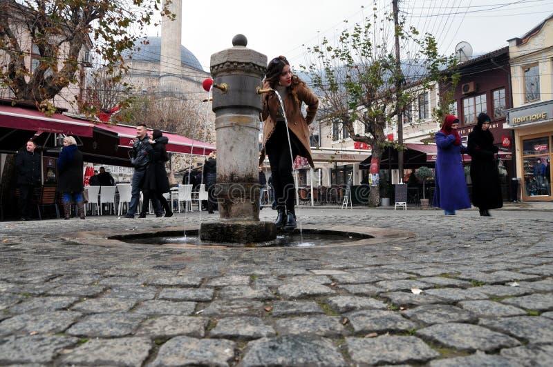 Il quadrato Prizren di Shadrvan fotografia stock libera da diritti