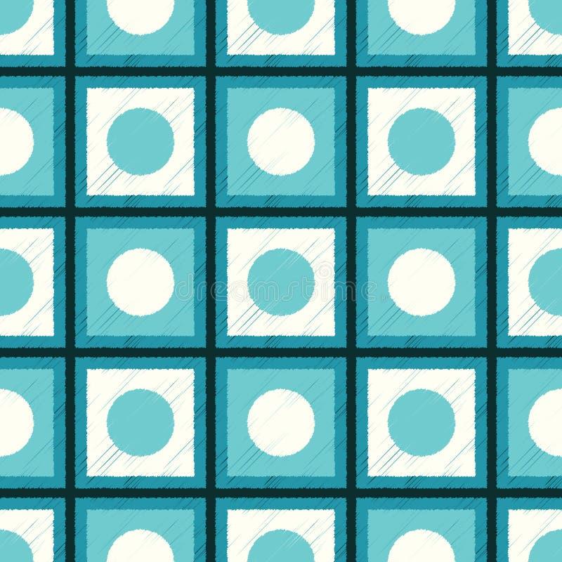 Il quadrato senza cuciture piastrella il modello della maglia illustrazione vettoriale